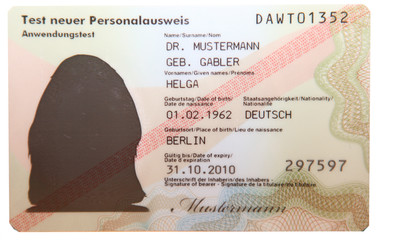 Personalausweis Deutschland 2010