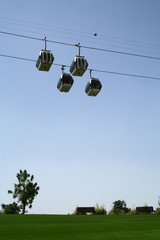 Cable Cars above Dubai Creek Park