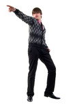 Young Adult Casual Man. Studio Shoot Over White Background. poster