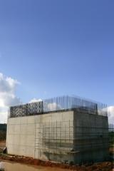 Concrete column reinforced, steel for a road construction