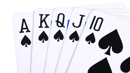 Rolal flush spades isolated