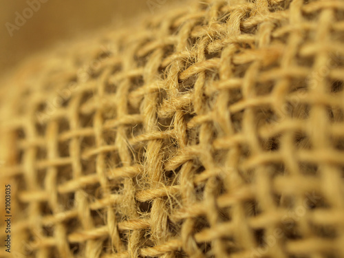 Macro of canvas, low depth of focus