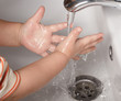 baby washing hands