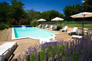 A swimming pool in Southern France