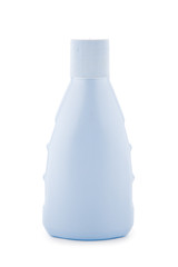 blue plastic brightly bottle