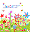 Spring colorful card