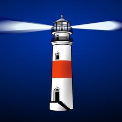 leuchtturm bei Nacht