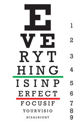Optometry Eye Chart Illustration