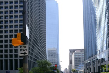 Dallas downtown city urban bulidings view