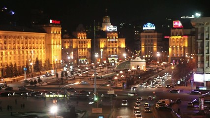 Independence Square (Maidan Nezalezhnosti) in Kyiv, Ukraine