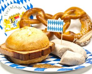 Leberkäse, Weißwurst und Bretzeln