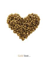 Gold coffee heart