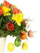Blumen mit Ostereier