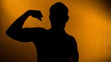 Strength and health - silhouette of man poster