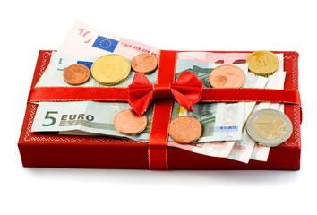 gift box european union currency