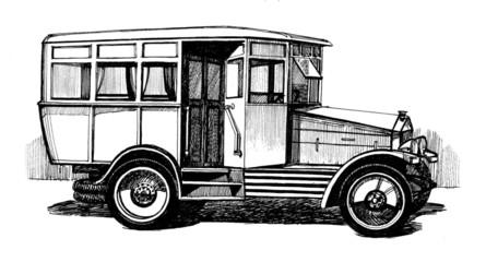 antique autobus