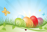 Fototapety Colorful easter background