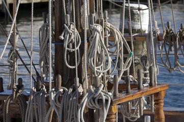 Takelage eines Segelschiffes