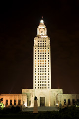 State Capitol in Baton Rouge, capital of Louisiana state, USA