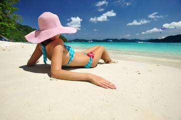 Relax on a beach