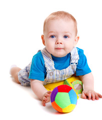 Infant with ball