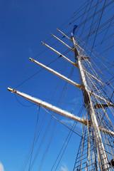 Mast eines Segelschiffes