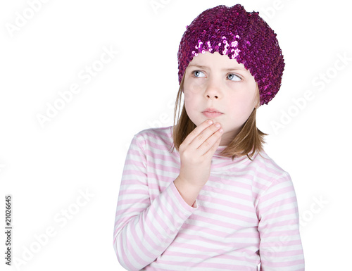 Cute Child Looking Pensive