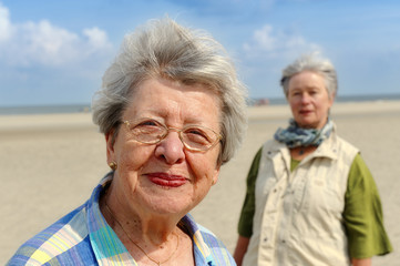 Two Senior Women at the Beach III