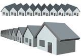 Row houses condos construction real estate