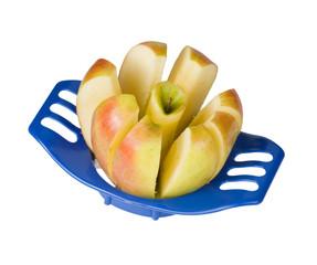 Cutting an apple.