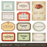 Fototapety vintage labels - inspired by antique originals