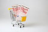 achat augmentation prix consommation caddie chariot supermarché poster