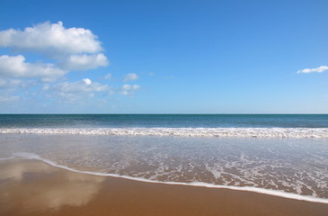 beach with bright blue sky 1
