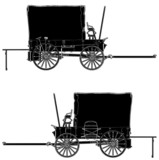 Western Stage Coach Wagon Vector 02 poster