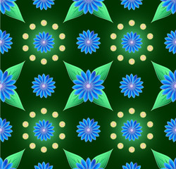 Blue small flowers seamless background
