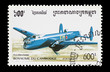 Cambodia mail stamp featuring an Avro Manchester bomber aircraft