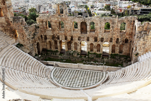 Staande foto Athene The Odeon of Herodes Atticus is a stone theatre,Acropolis, Athen