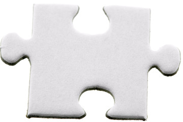 pièce vierge puzzle fond blanc