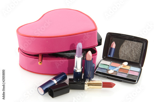 Pink make up case