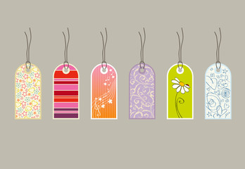 different gift tags