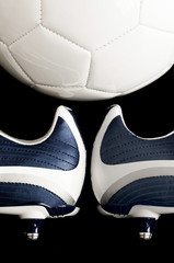 Soccer / football and boots