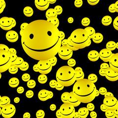 Viele glückliche Smileys