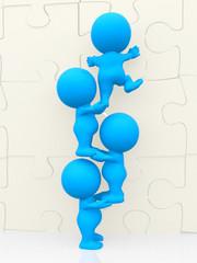 3D men - puzzle assembling