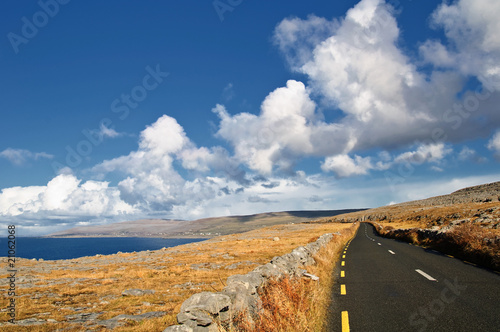 beautiful scenic vibrant landscape and seacape west ireland