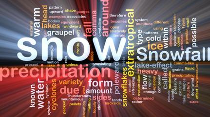 Snow precipitation background concept glowing