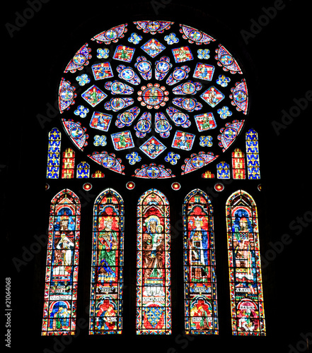 Stained glasses from Chartres Cathedral, France