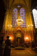 Notre dame du Pillier chapel inside Chartres Cathedral, France