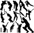 cricket players collection 1 - vector