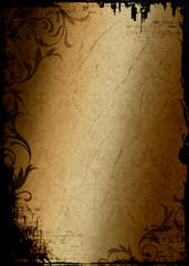 Grunge Background Damask Pattern