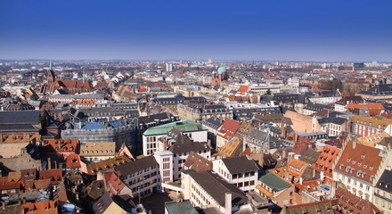 Ville de Strasbourg, vue du ciel